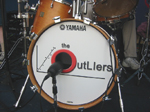 Outliers Drum Logo at the Riverhead Blues Festival