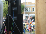 Scene from behind the stage at the Riverhead Blues Festival