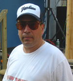 George (Roadie, Pictures & Good Friend) at the Riverhead Blues Festival