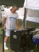 Jimmy V (Sound Tech) at the Riverhead Blues Festival