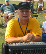 Jimmy V. (Sound Guy) at the Riverhead Blues Festival