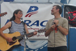 Laurie & Joel at the Riverhead Blues Festival